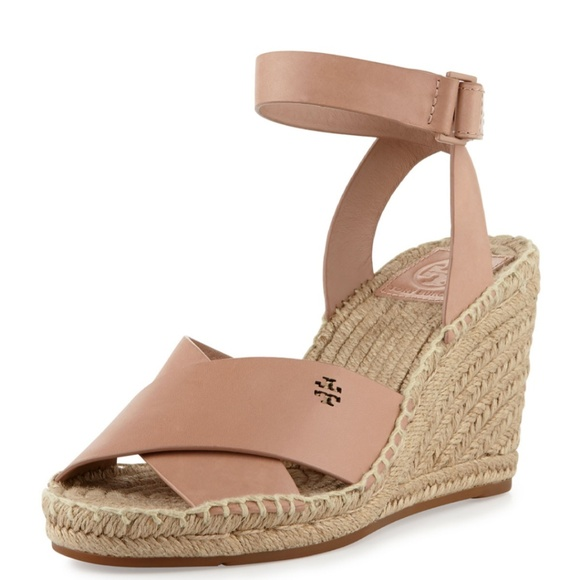 Tory Burch Shoes - Tory Burch Bima Leather Wedge Espadrille Sandal